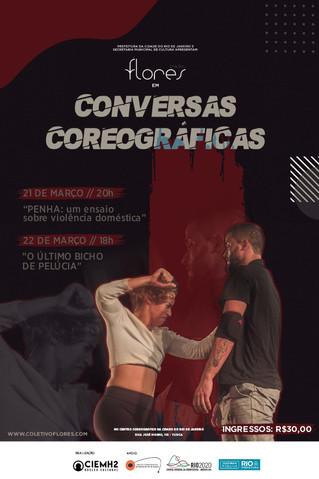 """""""CONVERSAS COREOGRÁFICAS"""" com o Coletivo Flores no Centro Coreográfico da Cidade do Rio de Janeiro"""