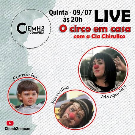 7ª live CIEMH2 COmVIDA - ações em favor dos artistas de Macaé
