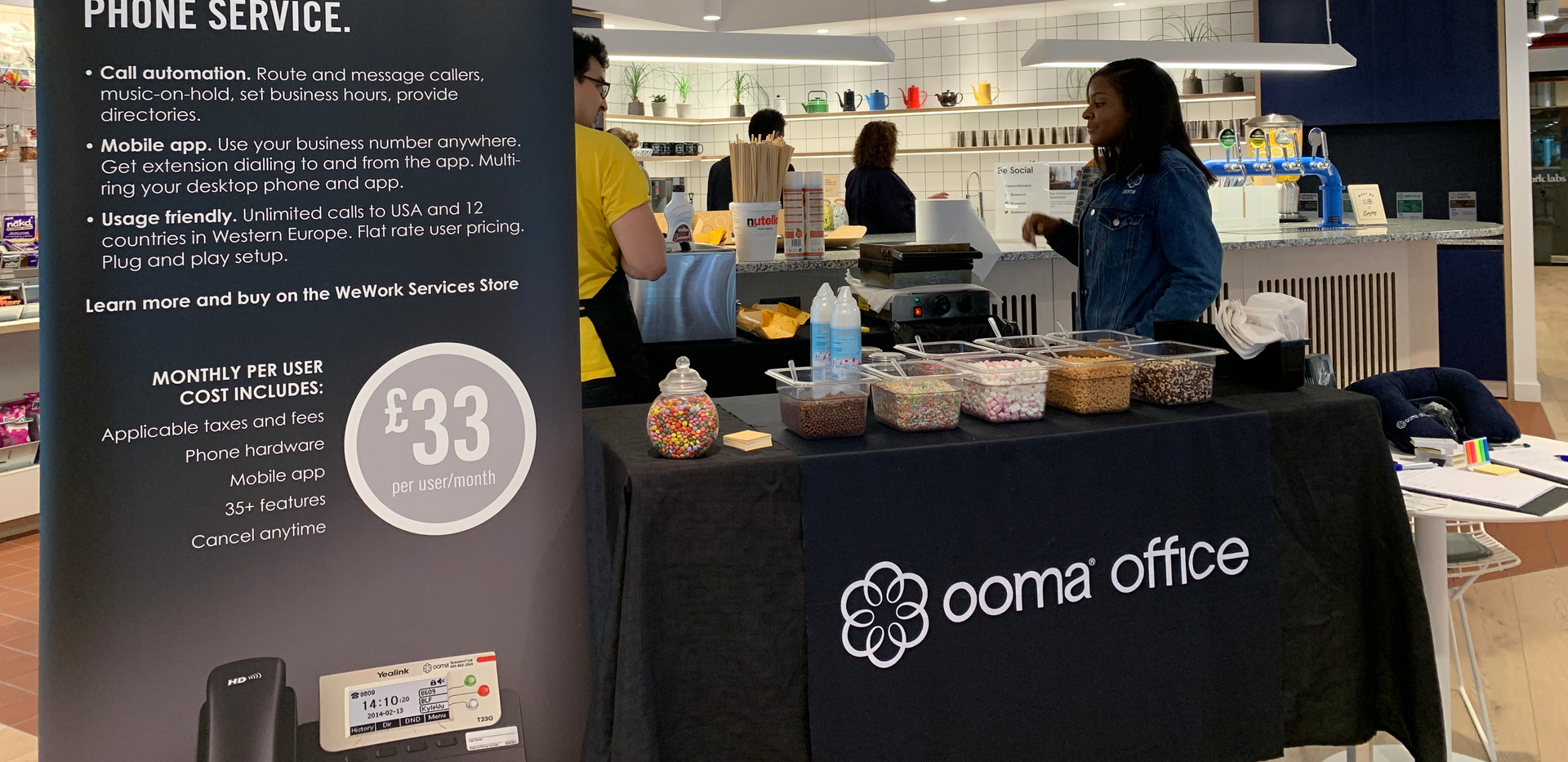 We Work- Ooma Pop-Up- Indoor