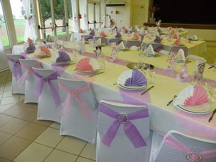 décoration table baptème