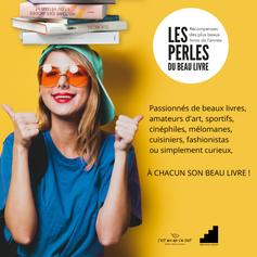 Visuel lancement Les Perles du beau livre