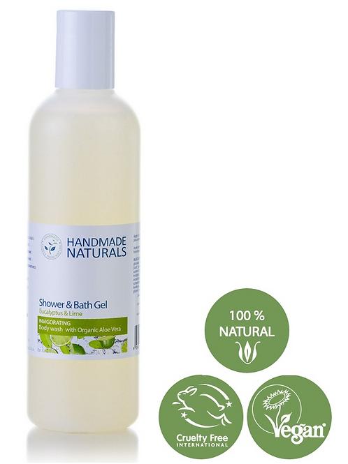 HN Shower & Bath Gel [ INVIGORATING ] Eucalyptus & Lime