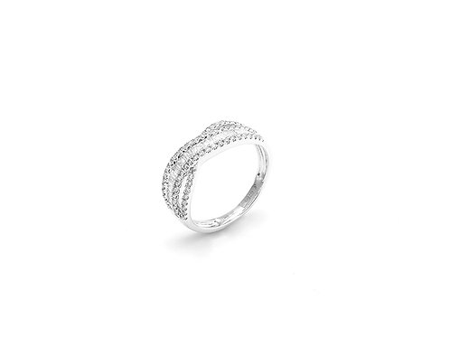 [ R11 ] 18K White Gold Diamond Ring