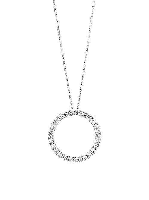 N40 18K白金鑽石項鍊