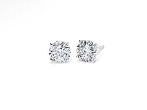 [ E27 ] 18K白金鑽石耳環