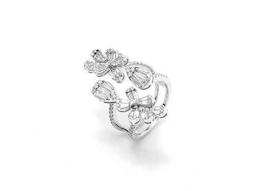 [ R03 ] 'floral'  18K White Gold Diamond Ring