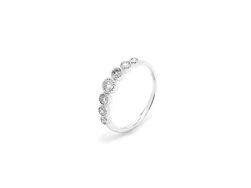 [ R07 ] 18K White Gold Diamond Ring