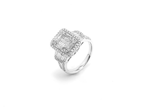 [R15] 14K白金鑽石戒指