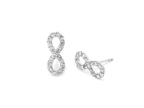 [ E31 ] 18K White Gold Diamond Earrings