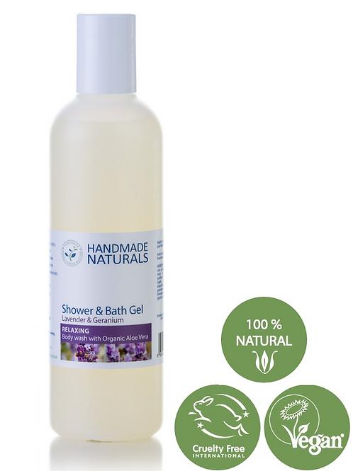 HN Shower & Bath Gel [ RELAXING ] Lavender & Geranium