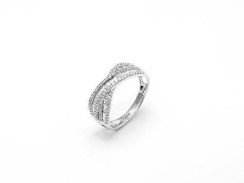 [R12] 18K白金鑽石戒指
