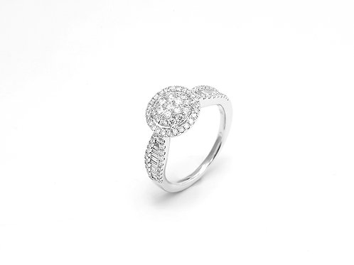 [ R10 ] 18K White Gold Diamond Ring