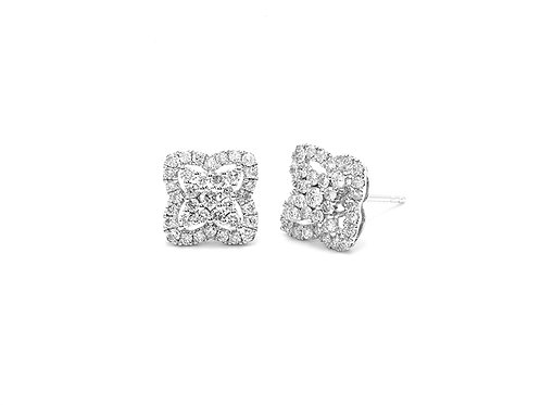 [ E22 ] 18K White Gold Diamond Earrings