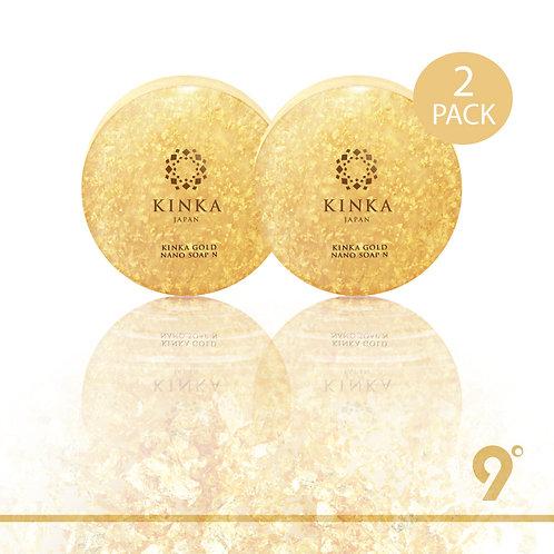 BUNDLE [ 2 PACK ] ✨  | 9°KINKA Gold Nano Soap x 2 pcs