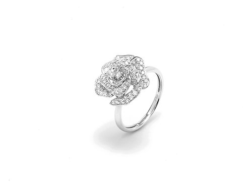 [ R08 ] 'rose' 18K White Gold Diamond Ring