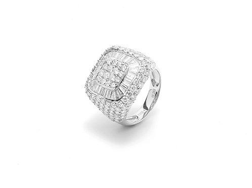 [ R02 ] 18K White Gold Diamond Ring