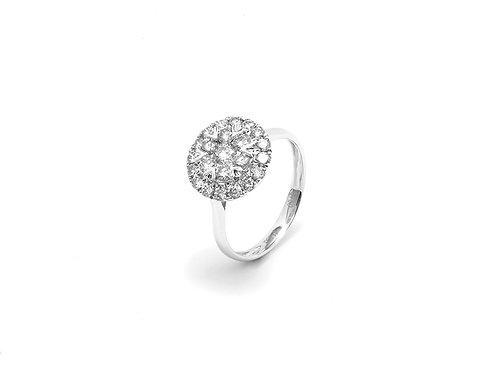 [R04] 18K白金鑽石戒指