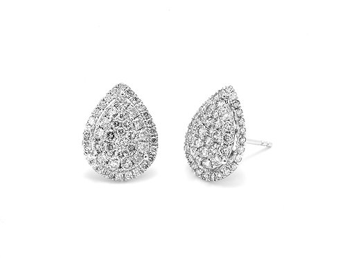 [ E24 ] 18K White Gold Diamond Earrings