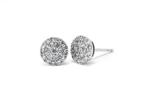 [ E30 ] 18K White Gold Diamond Earrings
