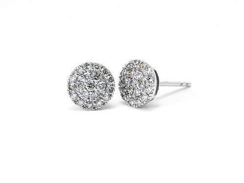 [E30] 18K白金鑽石耳環