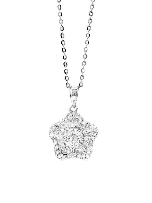 [N42] '星'18K白金鑽石項鍊