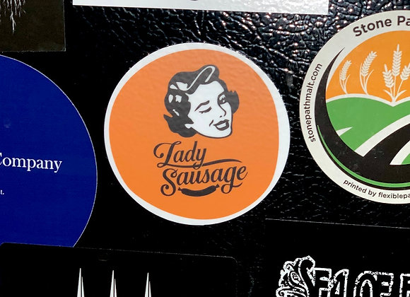 Lady Sausage Sticker