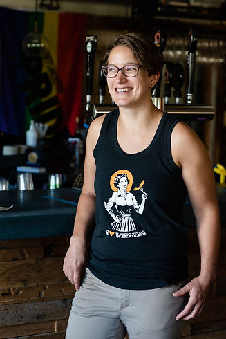 Carrie Dahlgren - head chef at Throwback Brewery and for Lady Sausage