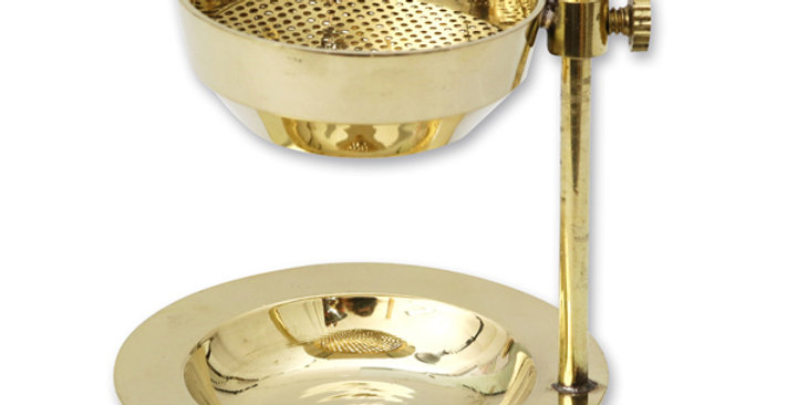 Weihrauchgefäß Messing mit Sieb 11x7.5cm
