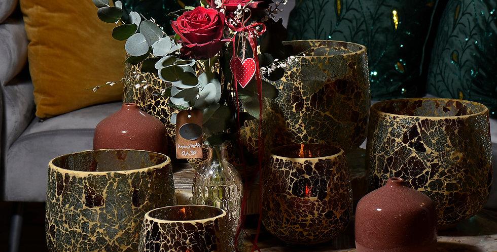 Rote Rosen in der Vase