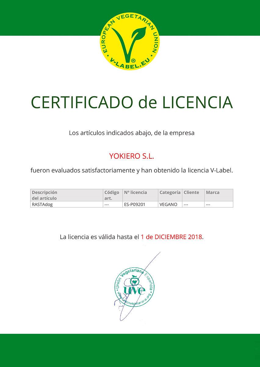 Certificado Castellano YOKIERO S.L..jpg