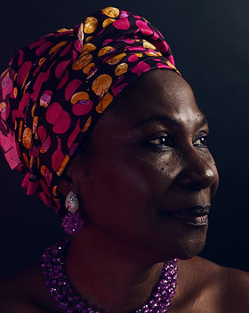 Beautiful Older Black Woman w Head Wrap