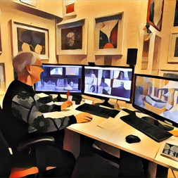 Nel mio studio: a furia di pixel...mi sono pixellato