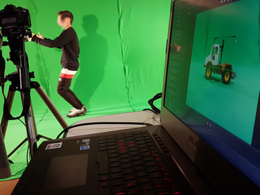 Laboratorio di Green Screen in PInAC