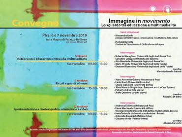 Convegno Immagine in movimento: lo sguardo tra educazione e multimedialità - Università Pisa