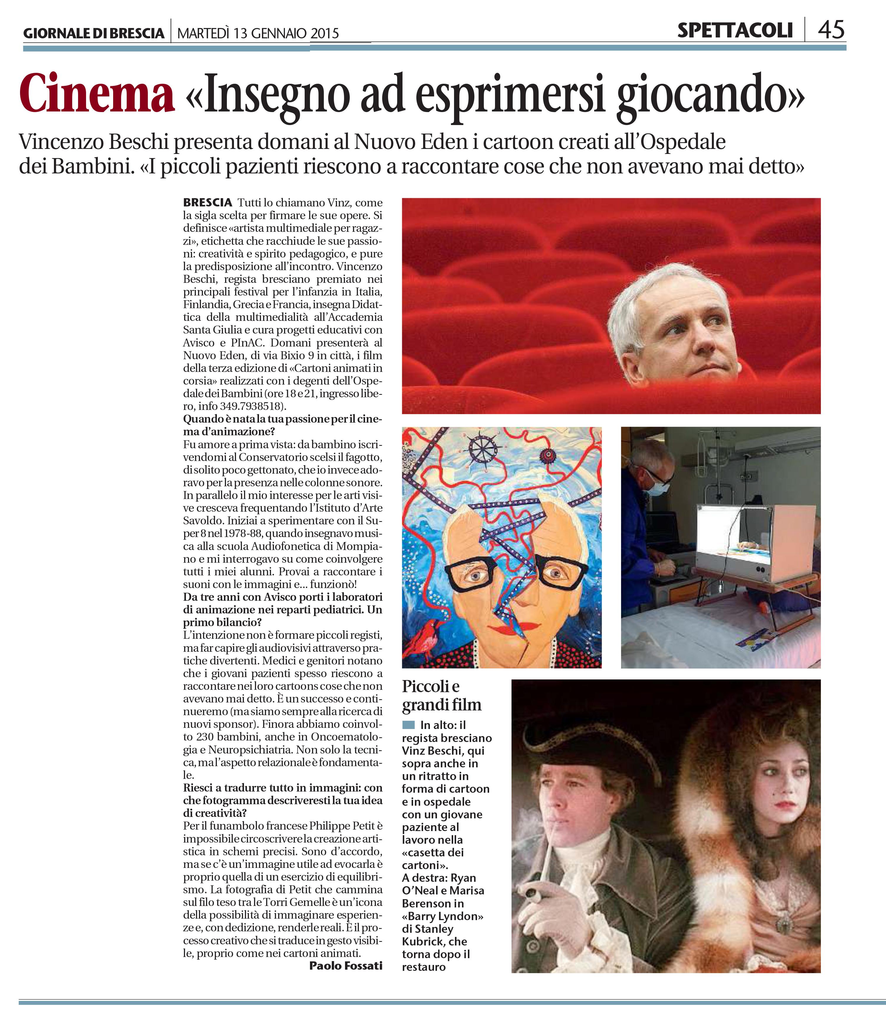 Articolo di Paolo Fossati