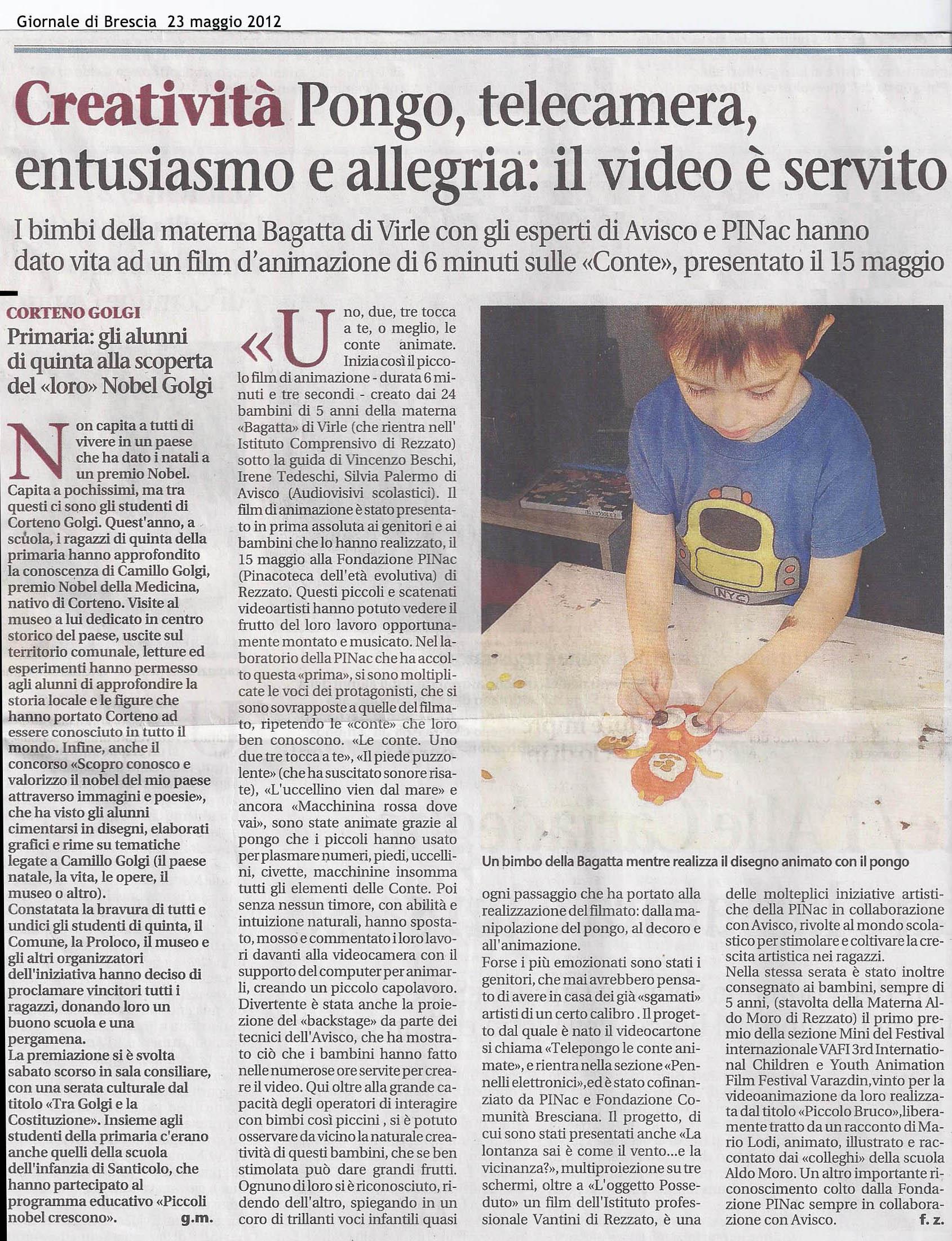 Giornale di Brescia 23 maggio 2012