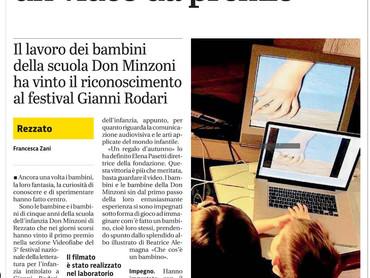 """Primo premio nella sezione Videofiabe al festival nazionale """"Gianni Rodari"""""""