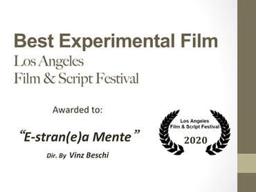 """Best Experimental Film assegnato al video """"E-stran(e)a-mente"""" al Los Angeles Film & Script festival"""
