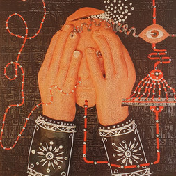 """""""Vedo non vedo """", opera di pongo selezionata per la mostra: (Bi)sogno interiore - Asylum Fantastic"""