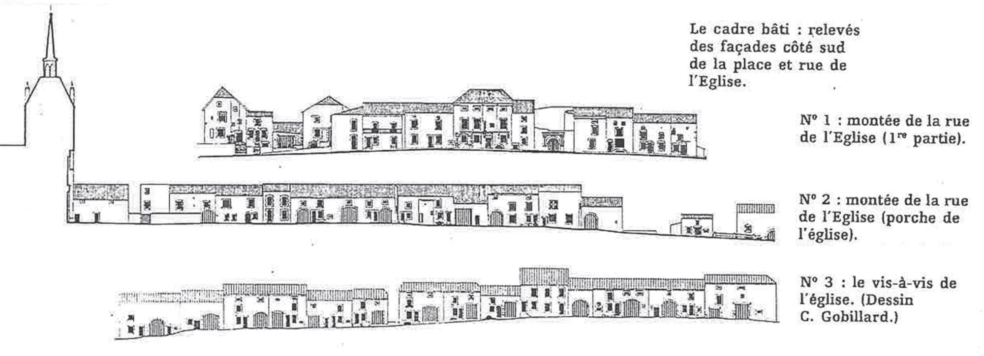 Profil et plan de Châtillon