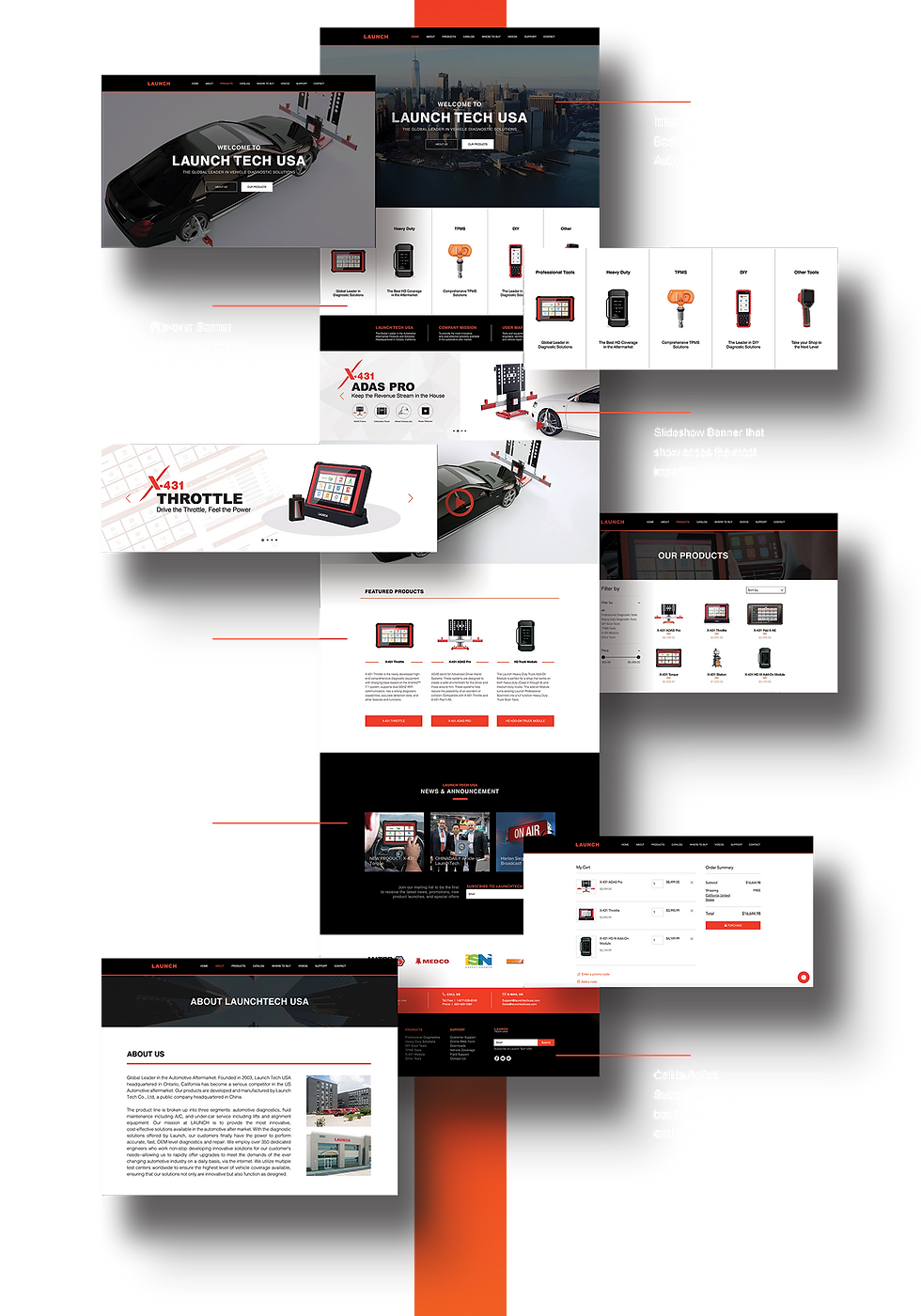 launch tech - website design - full home