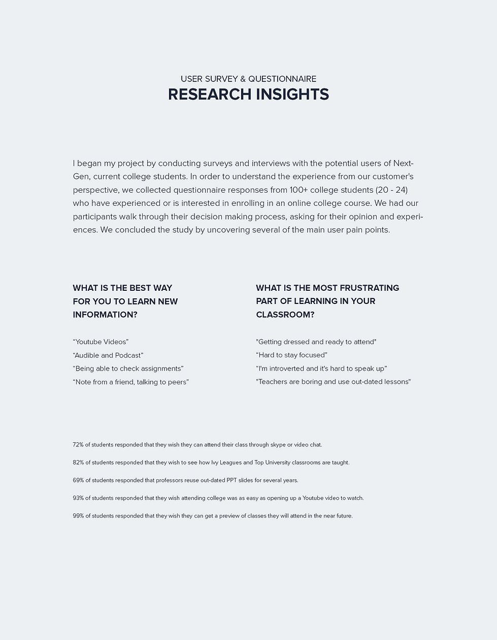 nextgen - research 2 - research insights