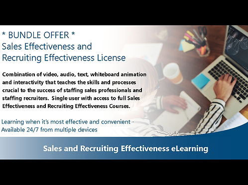 Sales and Recruiting Effectiveness eLearning License