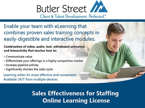 Sales Effectiveness eLearning License for Staffing Professionals