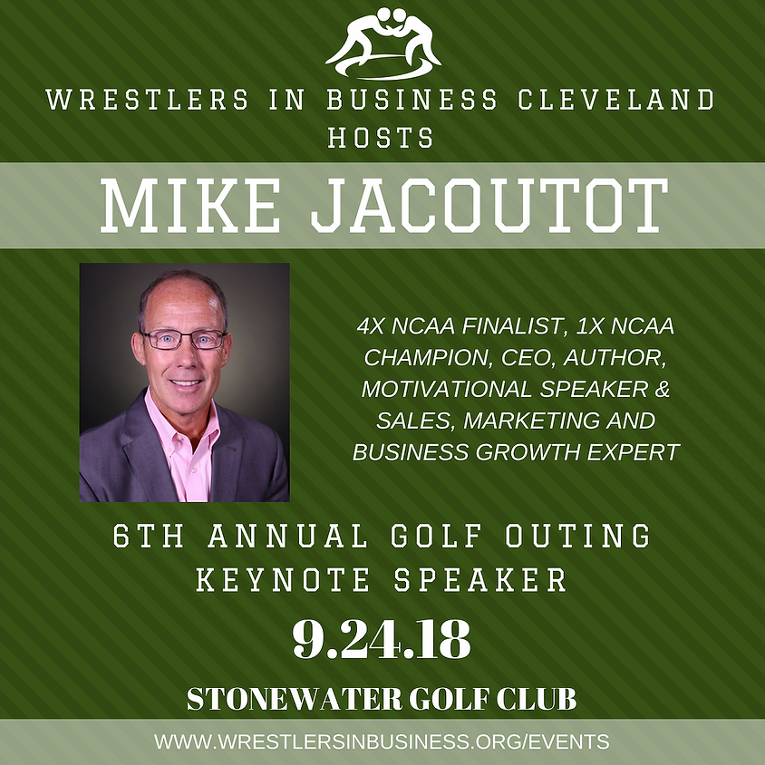 Keynote Speaker Mike Jacoutot at Wrestlers in Business Cleveland Event