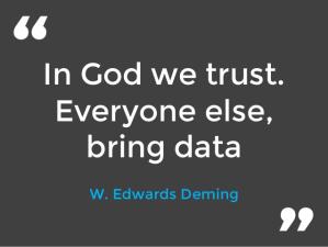 In God we trust.  Everyone else, bring data
