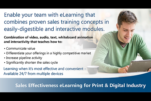 Sales Effectiveness eLearning for Print Industry