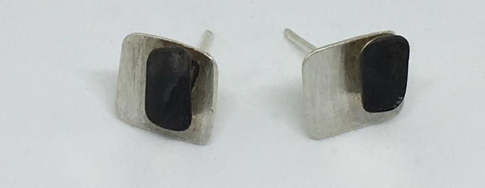 """Pendientes """"Black silver"""""""