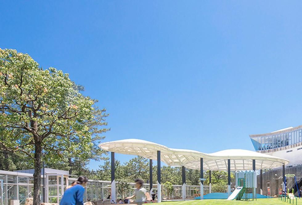 氷見市海浜植物園シーサイドパーク ふわふわ大屋根