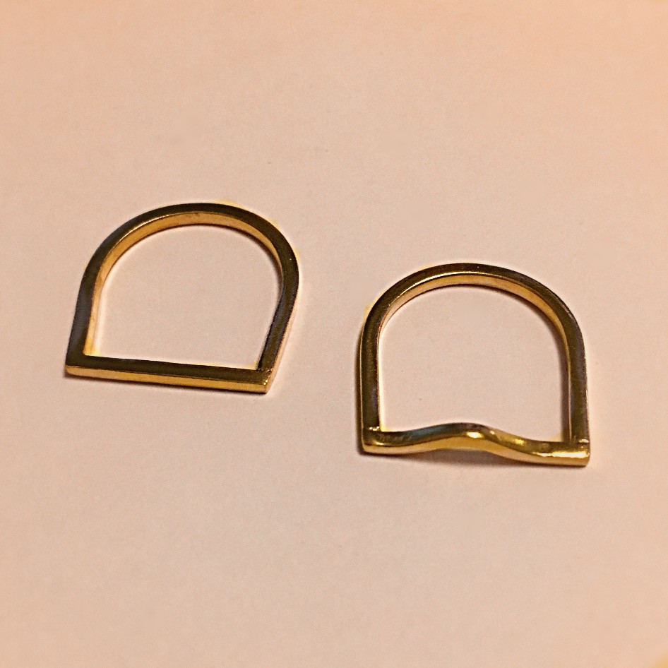 """Anillos """"Straight and curved line"""""""